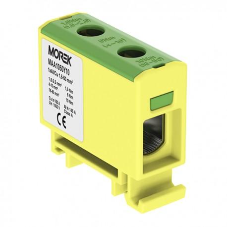 Verteilerblock 1,5-50mm2 gelb-grün
