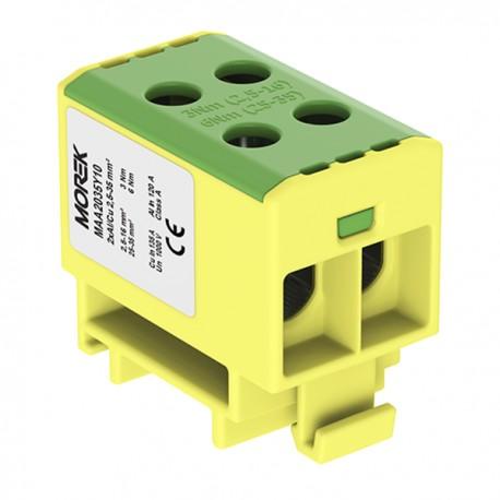 Hauptleitungsklemme 4x2,5-35mm2 gelb-grün