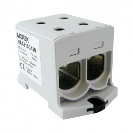Verteilerblock f 1000V AC//DC Klemme isoliert OTL 95-2 MAA2095B10 Morek 4122 Al//Cu geeignet 4x6-95mm2 blau 1pol