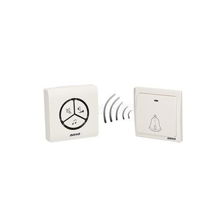 funkklingel f r den sender keine batterien 230v bis80m orno preis zone. Black Bedroom Furniture Sets. Home Design Ideas