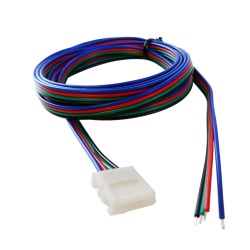 Verbinder mit 2m Kabel LED RGB 10mm 4Pin Band XC11 LD-ZTLRGB2M-4N GTV 2709