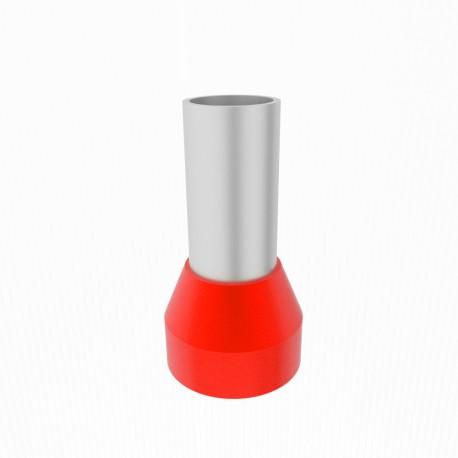 Aderendhülsen isoliert rot 95mm2/25 mm