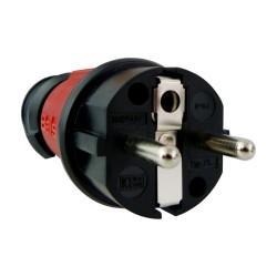 Schutzkontakt Stecker Uni-Schuko 16A 230V IP44 rot 7373 BALS 2487