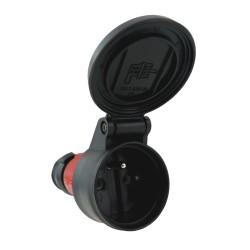 Schutzkontakt-Kupplung Klappdeckel 2P+PE 16A 230V IP54 Typ E 7493 rot BALS 3736
