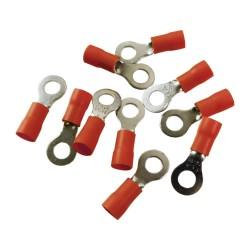 10Stk Quetsch Ring Kabelschuhe Ringöse 6mm Öhsen rot MSZS 0,5-1,5mm2 MSZS-1,5/6
