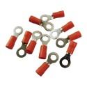 10Stk Ringkabelschuhe Quetschkabelschuhe Ringösen 5mm rot MSZ0,5-1,5mm2 MSZ-1,5/5