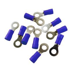 10Stk Quetsch Ring Kabelschuhe Ringöse 4mm Öhsen blau MSZS 1,5-2,5mm2 MSZS-2,5/4