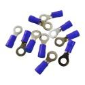 10 Stk Ringkabelschuhe Quetschkabelschuhe Ringösen 6mm blau MSZ 1,5-2,5mm2 MSZ-2,5/6