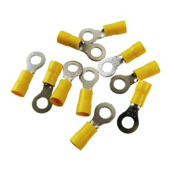 10Stk Ringkabelschuhe Quetschkabelschuhe Ringösen 8mm gelb MSZ 4-6mm2 MSZ-6/8