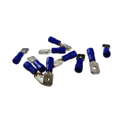 10Stk Flachsteckhülsen Kabelschuhe AS2 6,3 x 8 Blau 1,5-2,5mm²