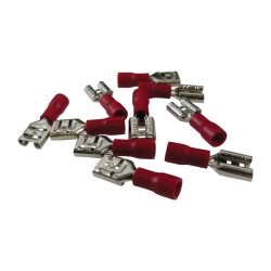 Flachsteckhülchen AS3 6,3 x 8 Rot 0,15-1,5mm²