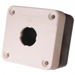 Putz Drucktaster Leergehäuse Aufbaugehäuse Aufputz grau/schwarz XAL-BE01 XBS
