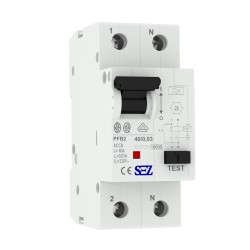 SEZ Fi-Schalter 40A 30mA 2p 10kA RCCB 0090664 FI-Schutzschalter 5203