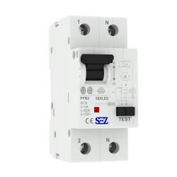 SEZ Fi-Schalter 16A 30mA 2p 10kA RCCB 0090662 FI-Schutzschalter 5180