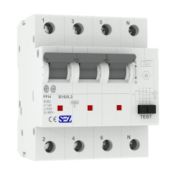 SEZ FI/LS B16 300mA 4p 10kA RCBO FI/LS-Schalter 0090953 Kombi Schalter 7153