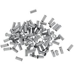 100 Stück 6/12 Aderendhülsen unisoliert 6mm²/12mm EN6012 Elpromet 0446