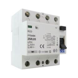 SEZ Fi-Schalter 25A 30mA 4P 10kA TYP B RCD/RCCB FI-Schutzschalter 8866