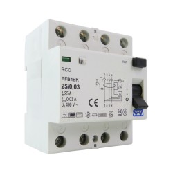SEZ Fi-Schalter 25A 30mA 4P 10kA TYPB RCD/RCCB