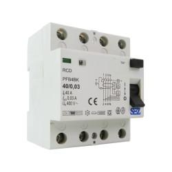 SEZ Fi-Schalter 40A 30mA 4P 10kA TYP B RCD/RCCB FI-Schutzschalter 8873