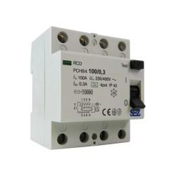 SEZ Fi-Schalter 100A 300mA 4P 10kA TYP A RCD/RCCB FI-Schutzschalter 6291