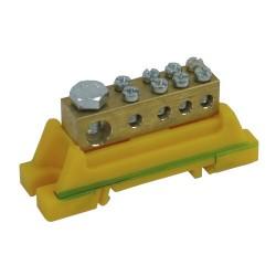 PE-Klemme grün-gelb für Hutschiene 46.31 E-P 7201