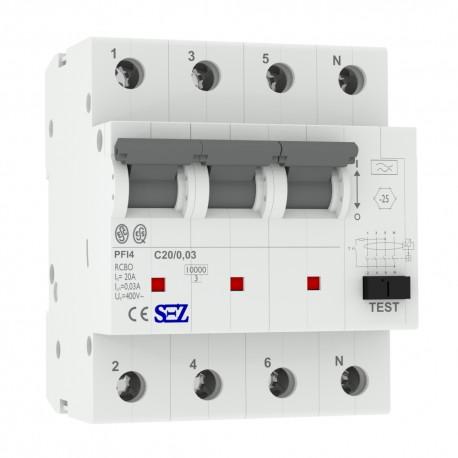 SEZ FI/LS C20 30mA 4p 10kA RCBO