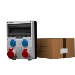 Stromverteiler ECO 1x32A 1x16A 2x230V französisch/belgische System Baustromverteiler Wandverteiler 2596