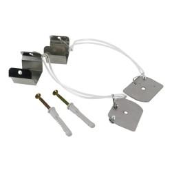 Seil Abhängung Acrylseil 15cm Deckenbefestigung Standard für LED-Hängeleuchte QUALIS Bemko 5497
