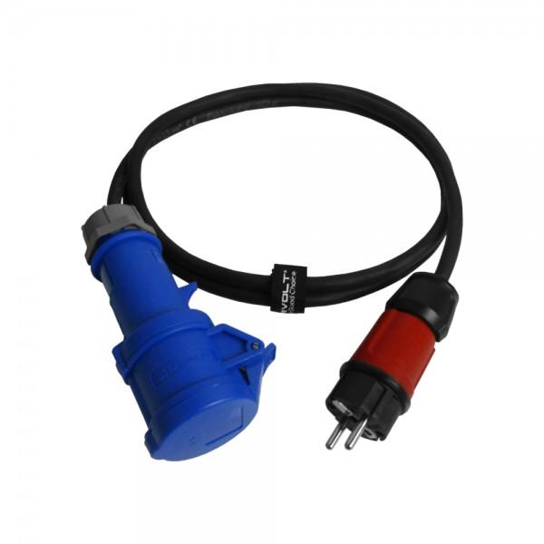 CEE Adapter Starkstrom 16A 30cm Stecker auf 230V Kupplung Doktorvolt® 6114