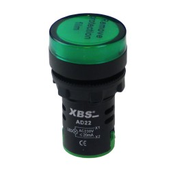 XBS grün LED Leuchtmelder Kontrolleuchte Signal- Lampe Licht 22mm 230V AD22-GREEN230 2309