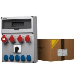 Baustromverteiler GR 3x16 1x32 5x230V Nockenschalter 0-1 Doktorvolt® 9061
