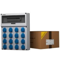 Stromverteiler GR-S/FI 16x230V Baustromverteiler Wandverteiler Doktorvolt® 9078