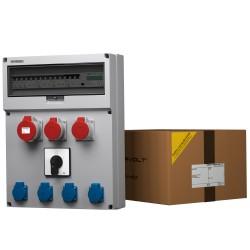 Baustromverteiler GR-S/FI 32 2x16 4x230V Schalter 0-1 Stromzähler MID Doktorvolt® 9108