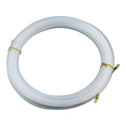 15m Einziehband mit Suchfeder Weiß Plastikfiziert Flexibel Elektrik Draht Kabel Anzieher 1.315 M-L 1541