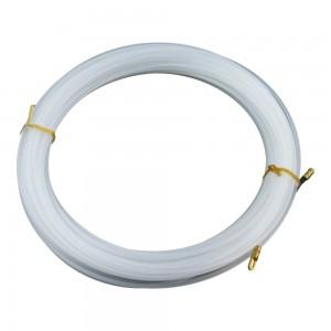 Einziehband 25m mit Suchfeder Weiß Plastikfiziert Flexibel Elektrik Draht Kabel Anzieher 1.330 Marlanvil
