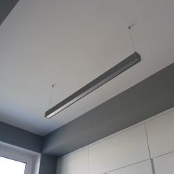 LED Hängeleuchte 113cm 30W 4000K 230V Bürolampe Lampe QUALIS anthrazit Bemko 5176
