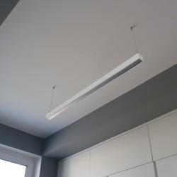 LED Hängeleuchte 113cm 30W 4000K 230V Bürolampe Lampe QUALIS silber Bemko 5183