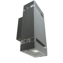 Fassadenleuchte GU10 IP54 grau up/down Wandlampe Innen Außen Beleuchtung Nessa GTV 2193