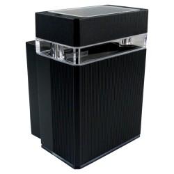 Fassadenleuchte GU10 IP54 schwarz Wandlampe Innen Außen Beleuchtung Nessa GTV 2254