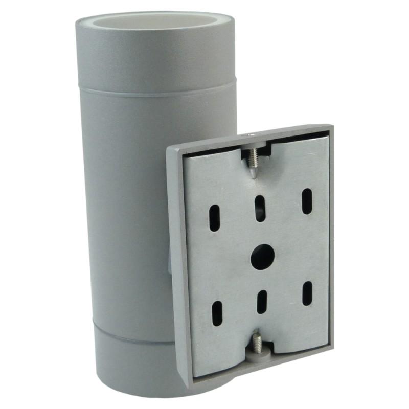 fassadenleuchte 2xgu10 ip54 grau wandlampe au en baleo mini. Black Bedroom Furniture Sets. Home Design Ideas