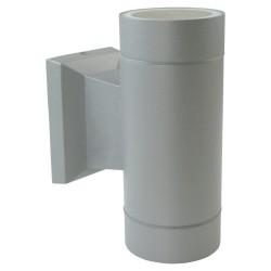 Fassadenleuchte 2xGU10 IP54 grau Wand Lampe Innen Außen up-Down-Beleuchtung BALEO MINI GTV 6893