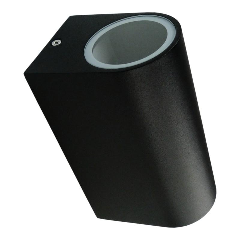 LED Außenleuchte 2xGU10 IP54 schwarz Garten Wand TIAGO