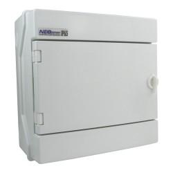 Feuchtraumverteiler Verteilerkasten Sicherungskasten 1000V 8Module RH-8/B AP VDE 36.7 E-P 4224