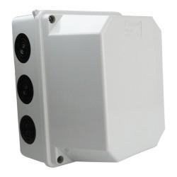 Abzweigkasten 200x155x140 10 Dichtmembranen Aufputz Abzweigdose Verbindungsdose Industriegehäuse IP66 009.PG.CA.G M-L 2725