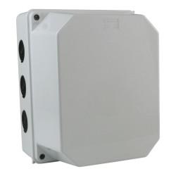 Abzweigkasten 250x195x180 12 Dichtmembranen Aufputz Abzweigdose Verbindungsdose Industriegehäuse IP66 010.PG.CA.G M-L 2749