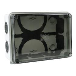 Abzweigkasten 160x120x75 10 Dichtmembranen Aufputz Abzweigdose Verbindungsdose Industriegehäuse IP66 008.PG.K M-L 0776
