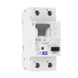 SEZ FI/LS C13A 30mA 2P 10kA RCBO FI/LS-Schalter 0090718 Kombi Schalter 8841