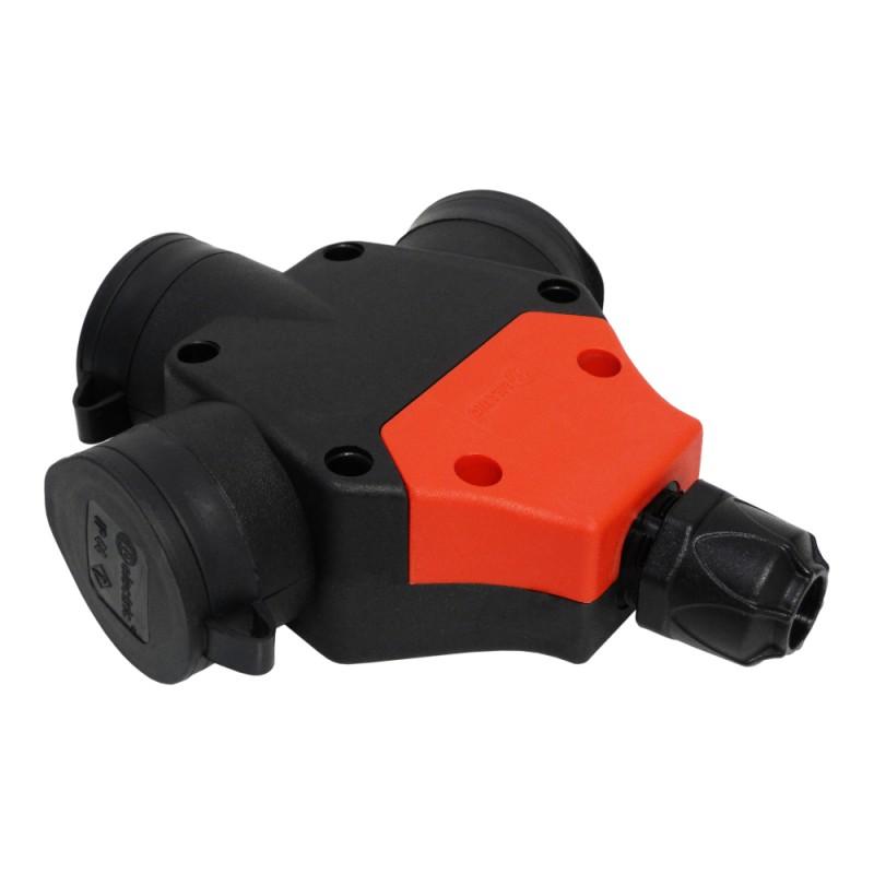 Schutzkontakt 3-Fach Steckdosenleiste schwarz 230V IP44 Elastomer