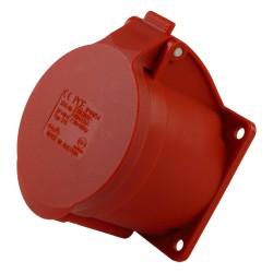 Anbausteckdose 32A/5P Einbausteckdose gerade 6h 400V IP44 rot Typ325 PCE 7275