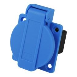 Einbau Anbau Steckdose 16A dänisch System 230V blau rückw. Anschluss PCE 1030-0b PCE 7413